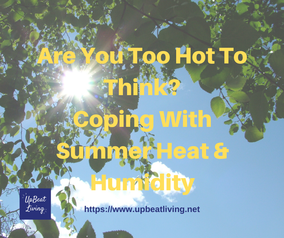 Are You Too Hot To Think? Coping with Summer Heat & Humidity?