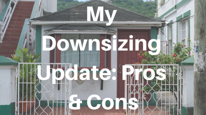 My Downsizing Update: Pros & Cons