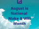 August Is National Make A Will Month