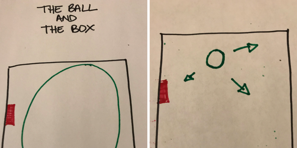 The Ball And the Box Illustration Of Grief