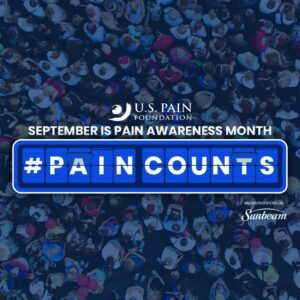 September is Pain Awareness Month #Paincounts